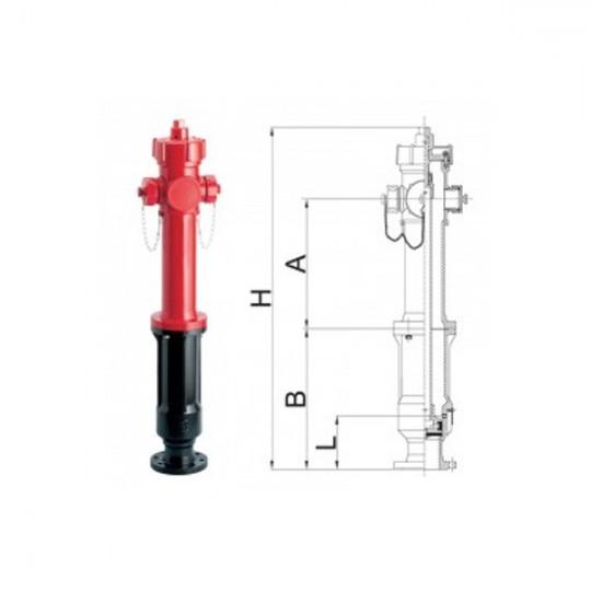 IDRANTE DN80 2x70 MP P 700