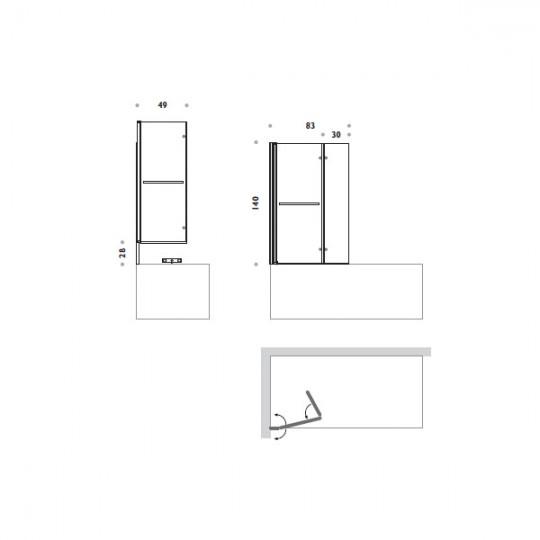 BOX SOPRAVASCA 83x140